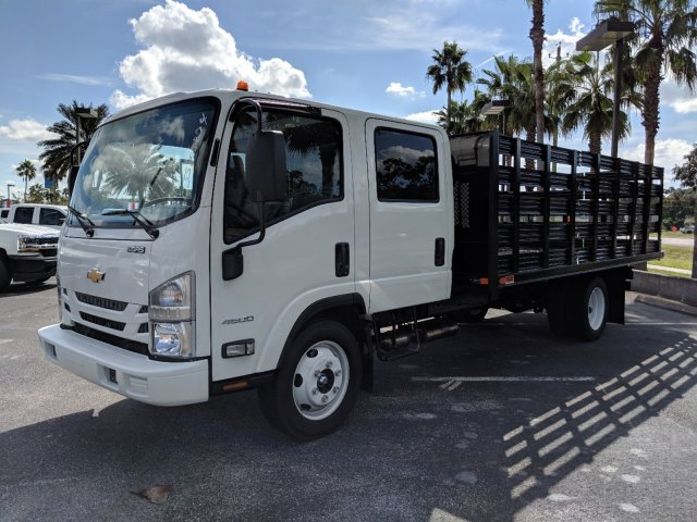 2018 LCF 4500 Crew Cab 4x2,  Action Fabrication Stake Bed #JS805874 - photo 7