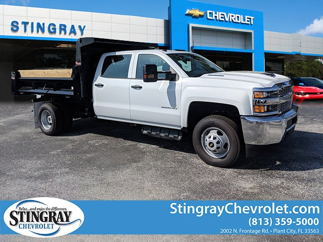 2019 Silverado 3500 Crew Cab DRW 4x2,  Rugby Dump Body #KF145759 - photo 1