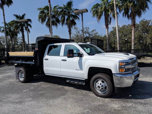 2019 Silverado 3500 Crew Cab DRW 4x2,  Rugby Dump Body #KF145759 - photo 5