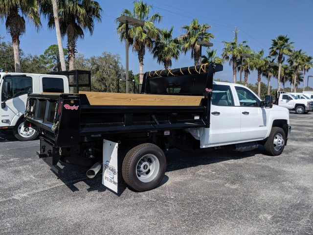 2019 Silverado 3500 Crew Cab DRW 4x2,  Rugby Dump Body #KF145759 - photo 2