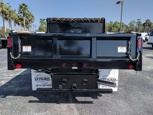2019 Silverado 3500 Crew Cab DRW 4x2,  Rugby Dump Body #KF145759 - photo 4