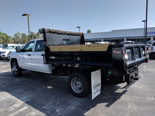 2019 Silverado 3500 Crew Cab DRW 4x2,  Rugby Dump Body #KF145759 - photo 3