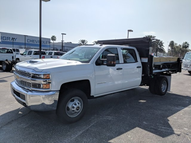 2019 Silverado 3500 Crew Cab DRW 4x2,  Rugby Dump Body #KF145759 - photo 7