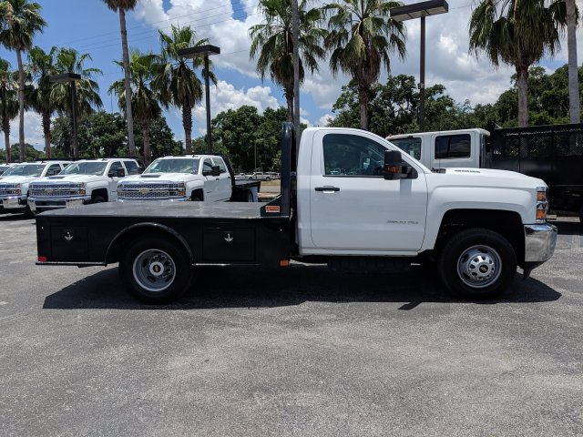 2019 Silverado 3500 Regular Cab DRW 4x4,  CM Truck Beds SK Model Platform Body #KF160281 - photo 4