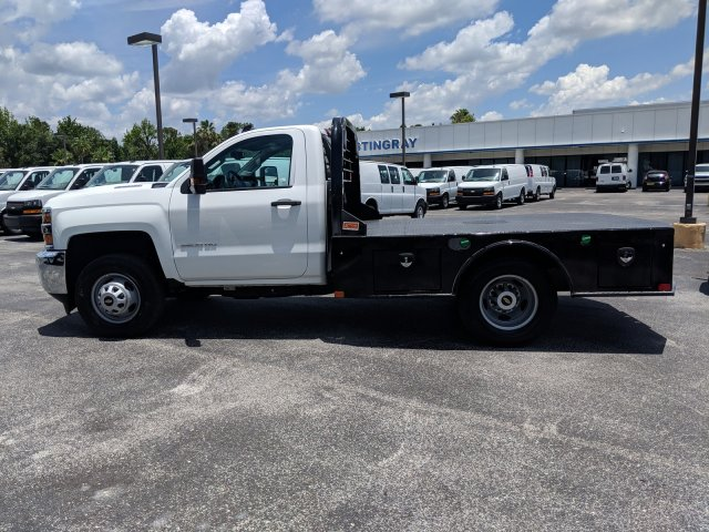 2019 Silverado 3500 Regular Cab DRW 4x4,  CM Truck Beds SK Model Platform Body #KF160281 - photo 6