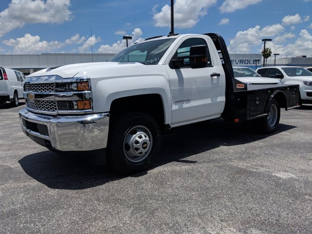 2019 Silverado 3500 Regular Cab DRW 4x4,  CM Truck Beds SK Model Platform Body #KF160281 - photo 7
