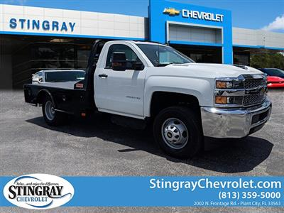 2019 Silverado 3500 Regular Cab DRW 4x4,  CM Truck Beds SK Model Platform Body #KF160281 - photo 1