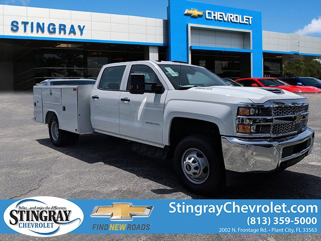 2019 Silverado 3500 Crew Cab DRW 4x4,  Reading Service Body #KF246339 - photo 1