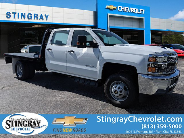2019 Silverado 3500 Crew Cab DRW 4x4,  CM Truck Beds Platform Body #KF251417 - photo 1