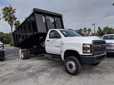 2019 Silverado 5500 Regular Cab DRW 4x4, Action Fabrication Landscape Dump #KH608807 - photo 3