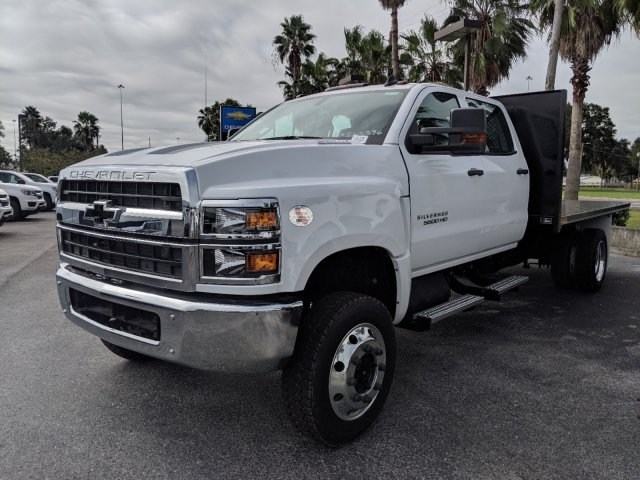 2019 Silverado 5500 Crew Cab DRW 4x4, Action Fabrication Platform Body #KH863396 - photo 7