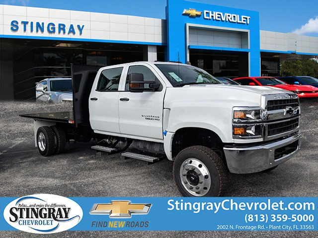 2019 Silverado 5500 Crew Cab DRW 4x4, Action Fabrication Platform Body #KH863396 - photo 1