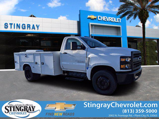 2019 Silverado Medium Duty Regular Cab DRW 4x2,  Reading Classic II Steel Service Body #KH885244 - photo 1