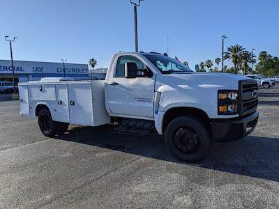 2019 Silverado Medium Duty Regular Cab DRW 4x2,  Reading Classic II Steel Service Body #KH885244 - photo 3