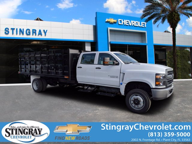 2020 Chevrolet Silverado 5500 Crew Cab DRW 4x4, Action Fabrication Stake Bed #LH631062 - photo 1