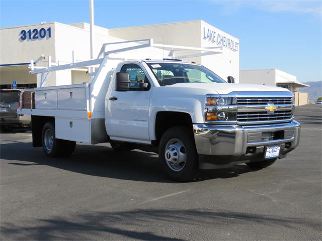 2017 Silverado 3500 Regular Cab DRW 4x2,  Harbor Standard Contractor Contractor Body #T17464 - photo 3