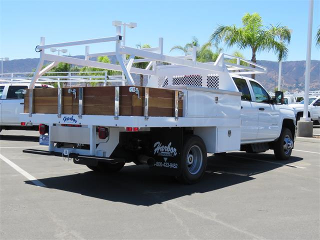 2017 Silverado 3500 Crew Cab DRW 4x4, Harbor Contractor Body #T17559 - photo 2