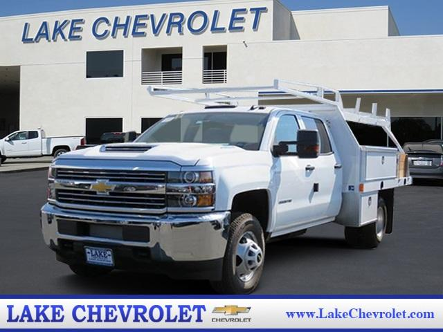 2017 Silverado 3500 Crew Cab DRW 4x4, Harbor Standard Contractor Contractor Body #T17667 - photo 1