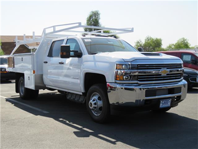 2017 Silverado 3500 Crew Cab DRW 4x4, Harbor Standard Contractor Contractor Body #T17667 - photo 3