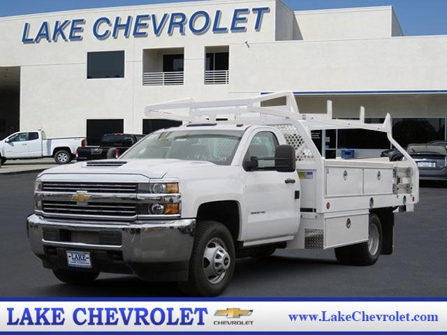 2017 Silverado 3500 Regular Cab DRW 4x2,  Royal Contractor Body #T17736 - photo 1