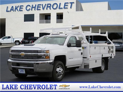 2017 Silverado 3500 Regular Cab DRW, Royal Contractor Bodies Contractor Body #T17736 - photo 1