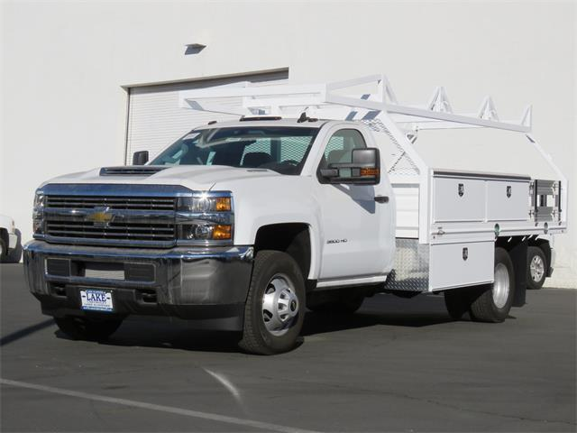 2018 Silverado 3500 Regular Cab DRW, Martin's Quality Truck Body, Inc. Contractor Body #T18063 - photo 12