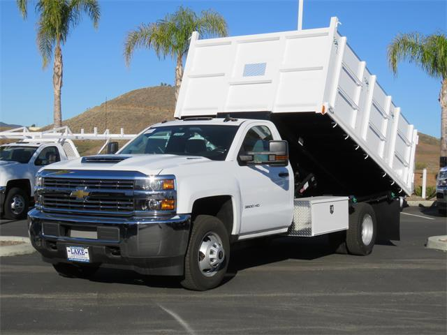 2018 Silverado 3500 Regular Cab DRW 4x2,  Martin's Quality Truck Body Landscape Dump #T18103 - photo 12