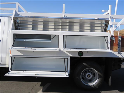 2018 Silverado 3500 Regular Cab DRW, Harbor Standard Contractor Contractor Body #T18190 - photo 4