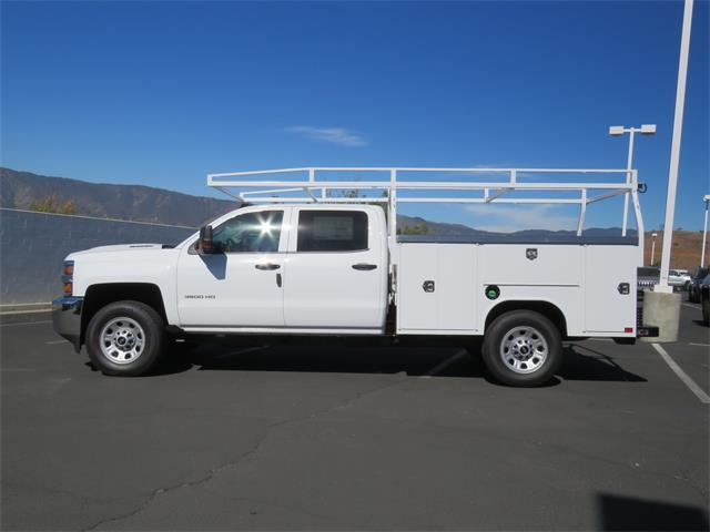 2018 Silverado 3500 Crew Cab DRW 4x4,  Harbor Service Body #T18481 - photo 4