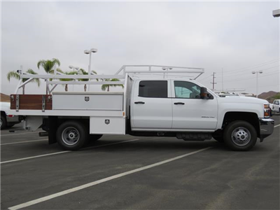 2018 Silverado 3500 Crew Cab DRW 4x2,  Harbor Standard Contractor Body #T18499 - photo 3