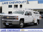 2018 Silverado 3500 Crew Cab DRW 4x2,  Harbor Standard Contractor Body #T18499 - photo 1