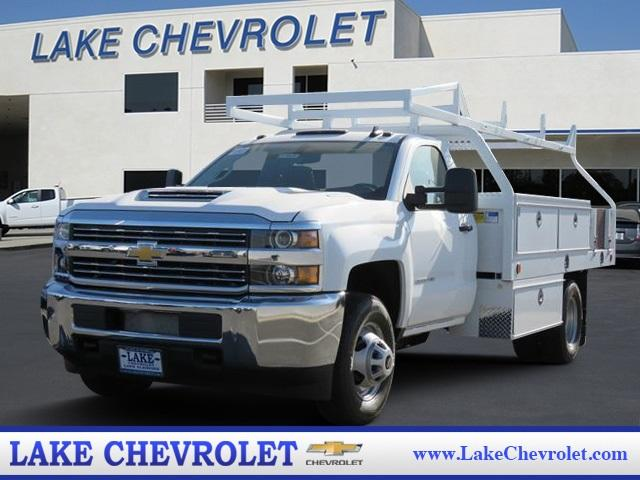 2018 Silverado 3500 Regular Cab DRW 4x2,  Royal Contractor Body #T18525 - photo 1