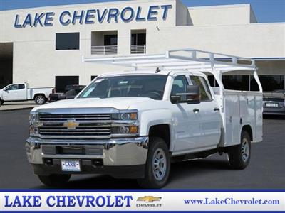 2018 Silverado 3500 Crew Cab DRW 4x2,  Harbor TradeMaster Service Body #T18561 - photo 1