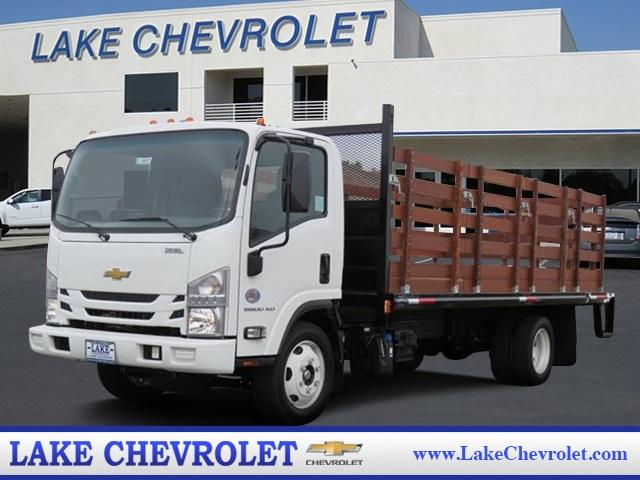 2019 LCF 5500XD Regular Cab, Martinu0027s Quality Truck Body Stake Bed #T19003    Photo ...