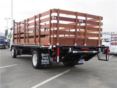 2019 LCF 5500XD Regular Cab,  Martin's Quality Truck Body, Inc. Stake Bed #T19003 - photo 2
