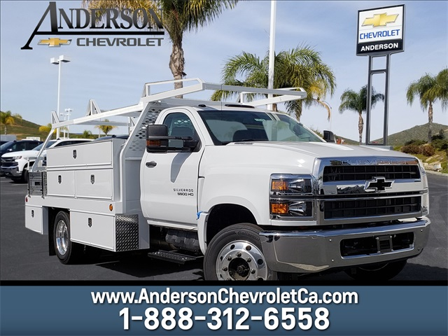 2019 Silverado Medium Duty Regular Cab DRW 4x2,  Scelzi Contractor Body #T19343 - photo 1