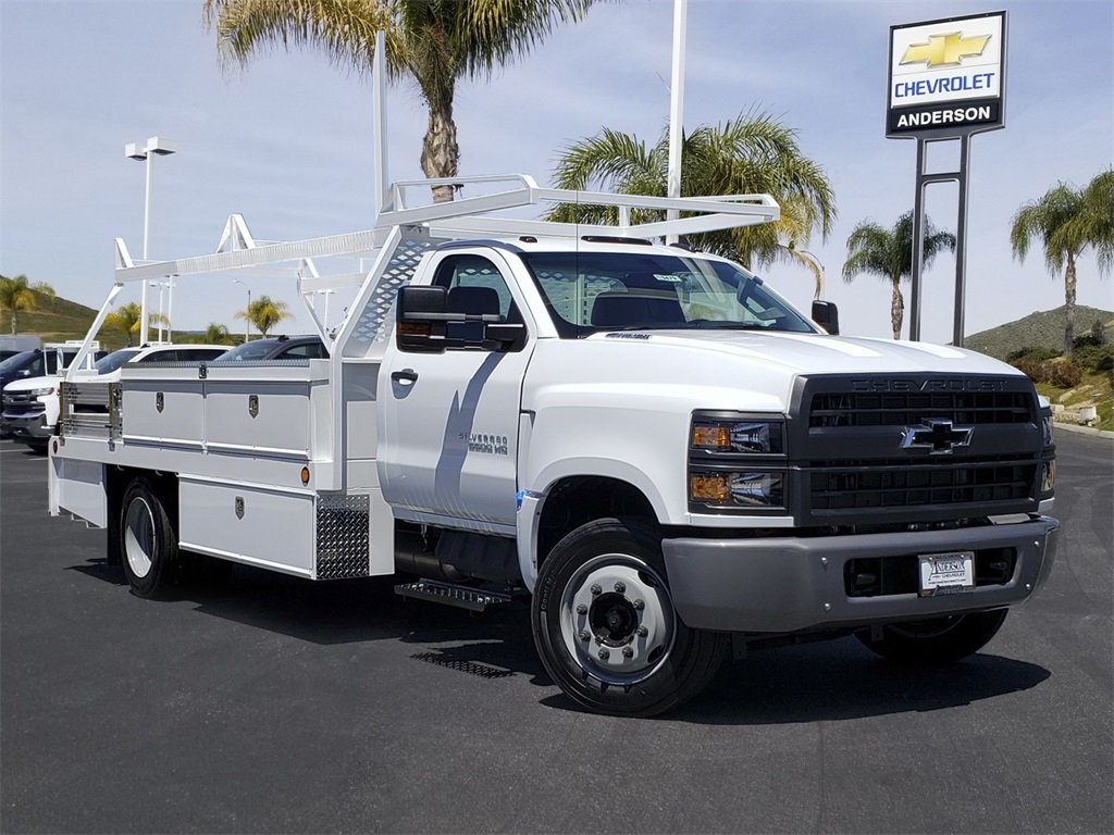 2019 Silverado Medium Duty Regular Cab DRW 4x2, Scelzi Contractor Body #T19479 - photo 1