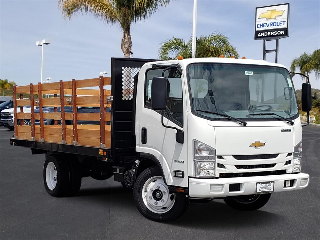 2019 LCF 4500 Regular Cab 4x2, Metro Truck Body Stake Bed #T19813 - photo 1