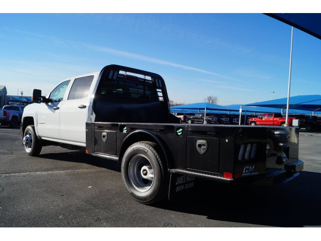 2018 Silverado 3500 Crew Cab DRW 4x4,  CM Truck Beds Platform Body #180610 - photo 2
