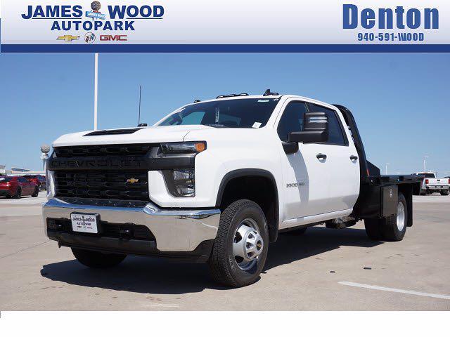 2021 Chevrolet Silverado 3500 Crew Cab AWD, CM Truck Beds Platform Body #212000 - photo 1