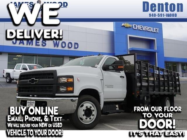 2019 Chevrolet Silverado 5500 Regular Cab DRW RWD, General Truck Body Stake Bed #293637 - photo 1