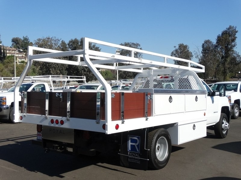 2017 Silverado 3500 Regular Cab DRW, Royal Contractor Bodies Contractor Body #173466 - photo 7