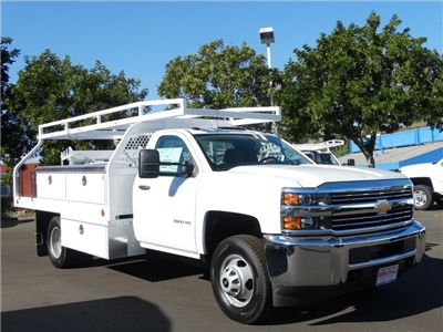2017 Silverado 3500 Regular Cab DRW, Royal Contractor Bodies Contractor Body #173466 - photo 8