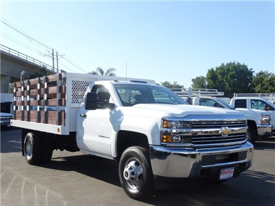 2017 Silverado 3500 Regular Cab DRW,  Royal Flatbed Bodies Stake Bed #173477 - photo 8