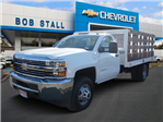 2017 Silverado 3500 Regular Cab DRW,  Royal Flatbed Bodies Stake Bed #173477 - photo 1