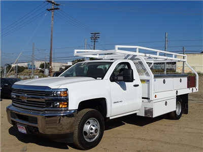 2017 Silverado 3500 Regular Cab DRW, Royal Contractor Bodies Contractor Body #173563 - photo 3