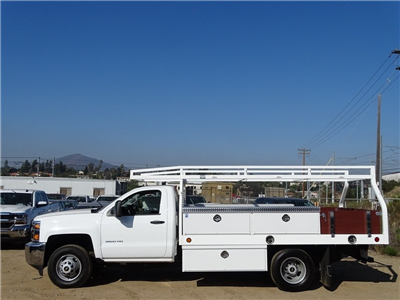 2017 Silverado 3500 Regular Cab DRW, Royal Contractor Bodies Contractor Body #173563 - photo 4
