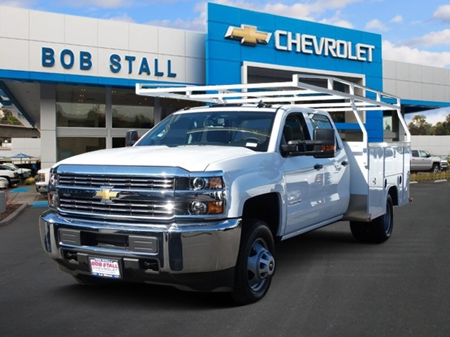 2018 Silverado 3500 Crew Cab DRW,  Harbor TradeMaster Service Body #183017 - photo 1