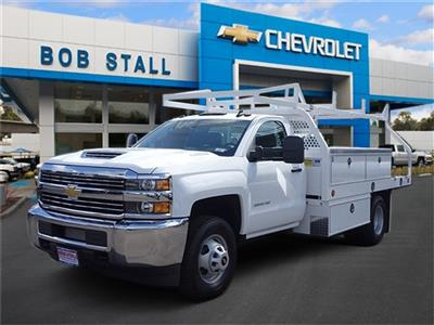 2018 Silverado 3500 Regular Cab DRW 4x2,  Royal Contractor Body #183148 - photo 1