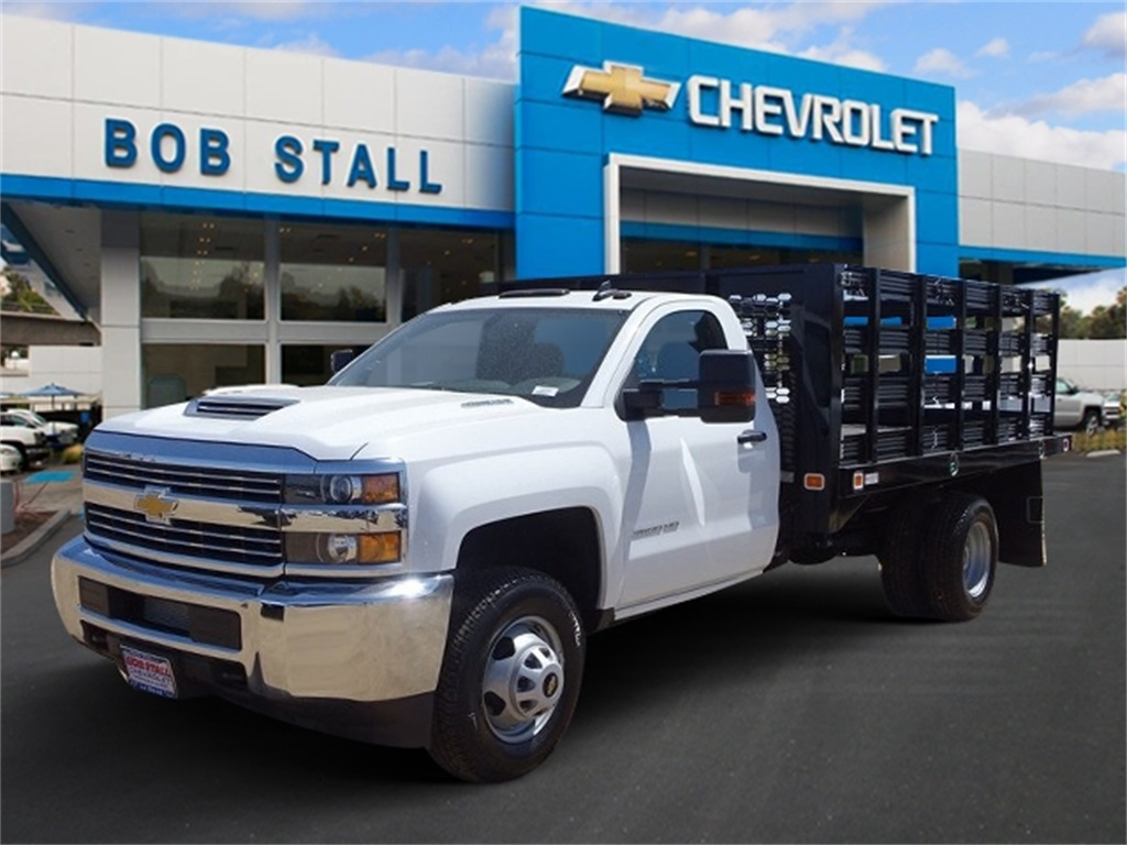 2018 Silverado 3500 Regular Cab DRW 4x2,  Knapheide Value-Master X Stake Bed #183154 - photo 1